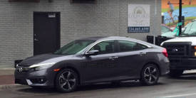 Highlight for album: 2016 Honda Civic Sedan Spied On The Street