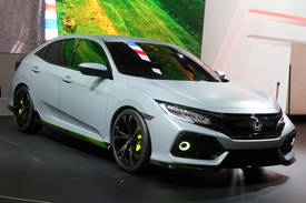 Highlight for album: 2017 Civic Hatchback Prototype Geneva